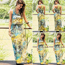 Summer Floral Women Sexy Party Cocktail Evening Maxi Long Boho Beach Sun Dress
