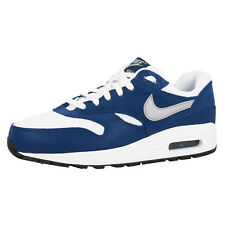 NIKE AIR MAX 1 GS SHOES TRAINERS WHITE GREY BLUE 555766-111 LTD BW CLASSIC 90