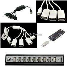 4/10 Port USB 2.0/1.1 Hub+Power Adapter For PC Laptop/Phone/iphone Samsung N98B