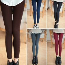 Lady Women Winter Warm Skinny Slim Leggings Stretch Pant Thick Footless Tight N9