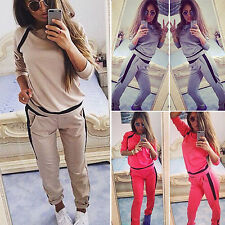 Womens Tracksuit Sweatshirt Top + Jogging Pants 2pcs sets Sportswear Sweat Suits