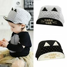 Summer Kids Baby Toddler Boys Girls Cute Cat Baseball Cap Sun Visor Hat