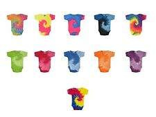 Multicolor Tie Dye Infant Onsies One Piece Toddler 18 M-24 M Short Sleeve Cotton