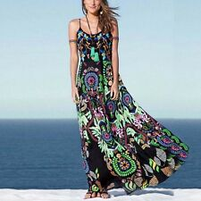 Bohemian Women Floral Evening Party Cocktail Beach Summer Long Maxi Dress