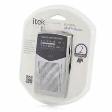 iTek 2 AM/FM Portable Band Personal Radio With 2 Years Gurantee