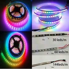 WS2812B 5050 RGB LED Strip Light 1M 5M 144 60 30 Led/M Individual Addressable 5V