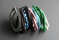 NEW Leather Surfer Braided Necklace Choker Bracelet Wristband Hemp Unisex 23""