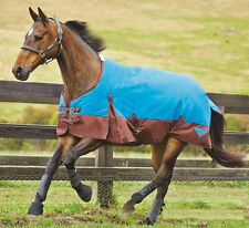 Weatherbeeta Waterproof Horse Winter Blanket Turnout Blue/Brown 1200D Heavy NEW