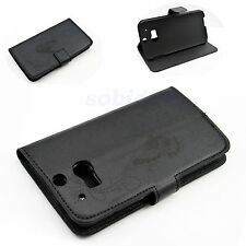 Perfect Leather Fold Stand Style Wallet Cover Case For HTC ONE 2 II M8 Black