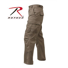 Khaki Rothco Mens Tactical Poly/Cotton cargo Pants -Solid Color BDU Pants | Add