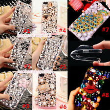 Luxury Bling Diamonds Crystal Gems Soft Back TPU Case Cover Skin For HTC Huawei