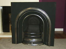 CAST IRON ARCHED FIREPLACE INSERT, PLAIN DESIGN (Solid Fuel or decorative use)