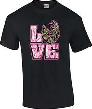 Love Deer Couple Camo Camoflauge Deer Hunting Hunter T-Shirt