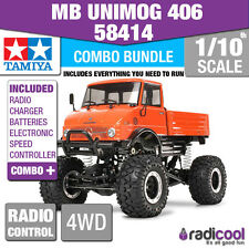 COMBO DEAL! 58414 TAMIYA MB UNIMOG 406 SERIES U900 CR-01 1/10th RADIO CONTROL