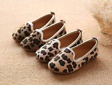 New Girls Princess Shoes fashion baby Flats Kids Leopard Shoes SZ21-30