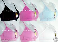 Pack of 6 pcs Sports Bras Lot Removable-Pads ONE SIZE(fits 32-38, A,B,C) L7111S