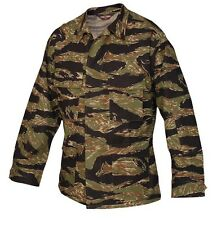Tru-Spec Vietnam tiger stripe pattern BDU jackets.4 pocket 100 % cotton ripstop