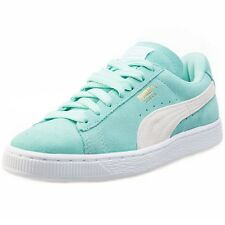 Puma Classic Womens Suede Green White Trainers