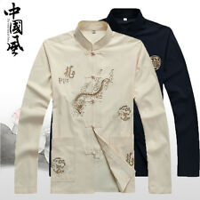 Men New Arrival Outerwear Chinese Traditional Kung-Fu Suit Jacket Coat M-4XL