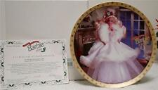 """HAPPY HOLIDAY BARBIE'S 8 1/4"""" PLATE L/E NUMBERED 1989"""