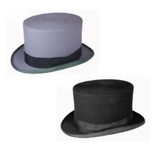 Men's Plain 100% Wool Felt Top Hat Special Occasion, Wedding, Groom & Derby Day
