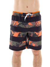 CMP Boardshort Swimwear Bermuda black orange Floral motif Lacing