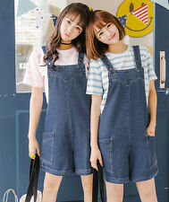 Girl women Washed Jeans Denim Casual Hole Jumpsuit Romper Overall Short