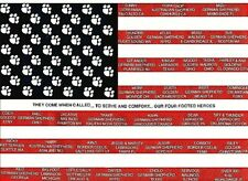 SEPT. 11 SEARCH AND RESCUE DOGS T-shirt American flag with hero rescue dog names