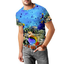Under The Sea Mens Cotton Blend T-Shirt XS-3XL All-Over-Print