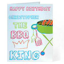 Personalised BBQ King Greetings Birthday Fathers Day Card - GC00036