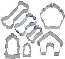 7 Piece Dog Lover Cookie Cutter Set NEW! Bones ~ Paw ~ Dog House NEW