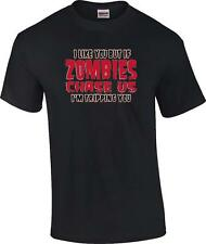 Funny I Like You But If Zombies Chase Us I'm Tripping You Walking Dead T-Shirt