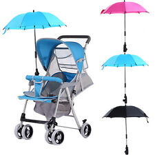 Baby Stroller Wheelchair Pushchair Pram UV Rays Sun Rain Parasol Umbrella + Clip