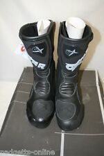OXTAR BLACK GORE-TEX WATERPROOF MOTORCYCLE BOOTS SIZE 6.5 / 40 - NEW / OLD STOCK