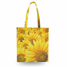 Sunflowers Canvas Tote Bag - 16x16 inch Book Gym Bag Optional Zip