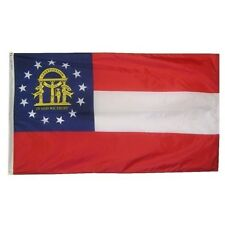 Georgia State Indoor Outdoor Parade Dyed Flag All Larger Sizes
