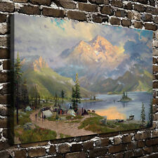Thomas Kinkade The Edge of the Wilderness, HD Canvas Print Home wall Art decor