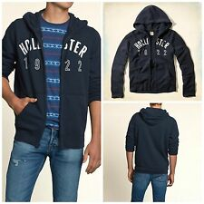 Hollister by Abercrombie Mens NWT Emerald Cove Navy Blue Hoodie Sweatshirt XL