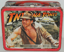 Vintage 1984 INDIANA JONES Temple of Doom Metal LUNCH BOX & Thermos George Lucas