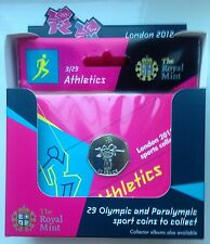 ATHLETICS ROYAL MINT 50p OLYMPIC COIN LONDON 2012 RARE BOX OF 10 COLLECTORS