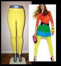YELLOW PANT LEGGINGS STRETCH WORKOUT DANCE CELEBRITY PLUS S, M, L, XL, 2X, 3X