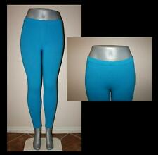 TEAL PANT LEGGINGS STRETCH WORKOUT DANCE PLUS SIZE S, M, L, XL, 2X, 3X