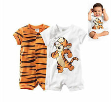 Baby Boys Newborn Infant Tigger Rompers Pants Bodysuit Clothes 0-12M Playsuits