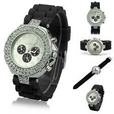 Geneva Fashion Crystal Jelly Silicone Band Quartz Women Ladies Wrist Watch Gift