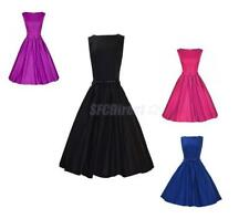 Women's Fashion Sleeveless Ladies Summer Evening Party Formal Ball Gown Dress