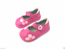 Girl's Squeaky Shoes Hot Pink w Daisy Mary Janes #SQ-203 Size  7 8
