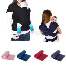 Ergonomic Newborn Baby Sling Stretchy Wrap Baby Carrier Backpack Front & Back