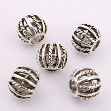 Lots 10/20Pcs Tibetan Silver Spacer Charms Loose Beads Jewelry Finding 9x11mm