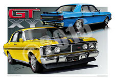 1971 Ford XY GT Falcon Art Print - XY GTHO Phase 3 Prints by Unique Autoart