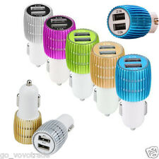 Dual USB Power Adapter LED Travel Car Charger for iphone for Samsung for LG G5